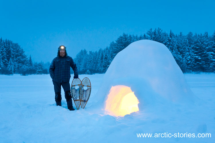 Igloos In The Arctic claim on the igloo with my